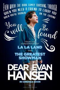 "Poster for the movie ""Dear Evan Hansen"""